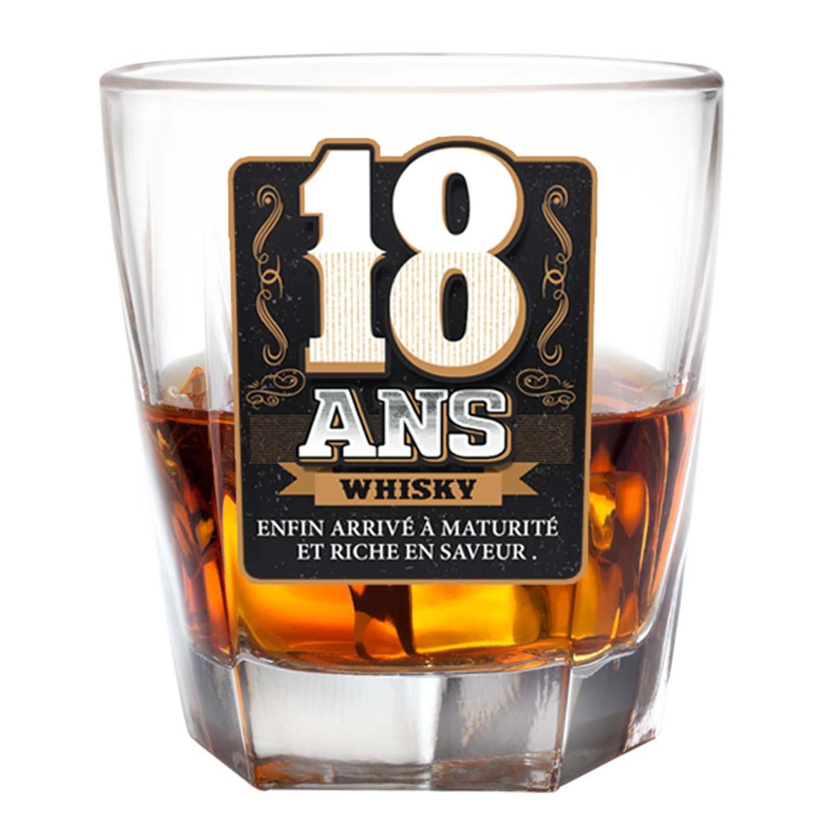 Verre à whisky \'18 ans\'  - [P2700]