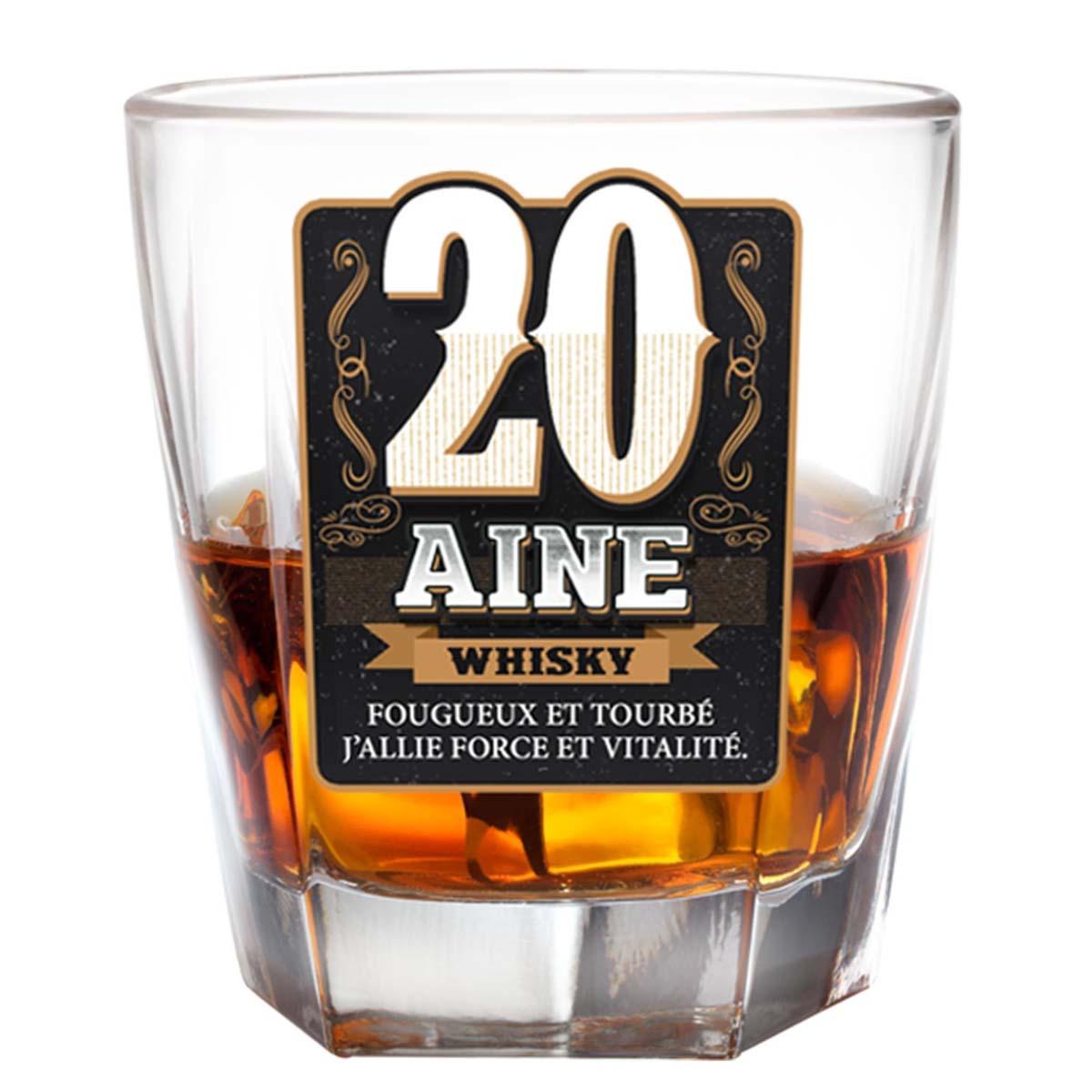 Verre à whisky \'20 ans\'  - [P2701]