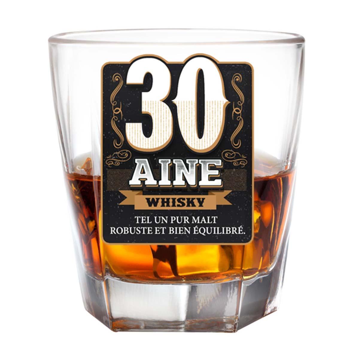 Verre à whisky \'30 ans\'  - [P2702]