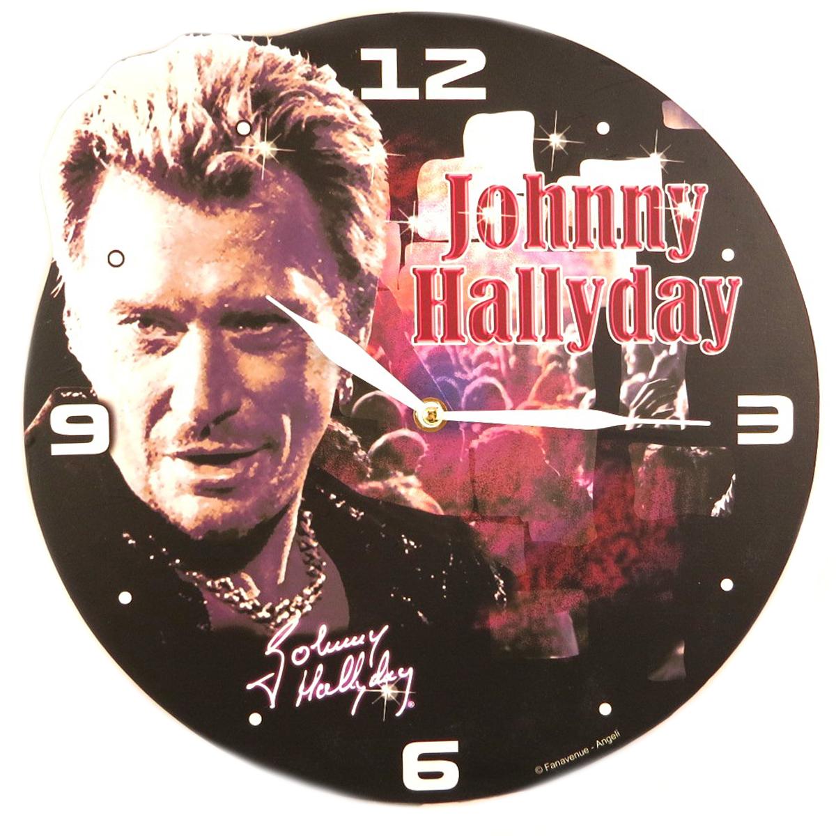 Horloge Murale \'Johnny Hallyday\' (concert) - 32 cm - [P9992]