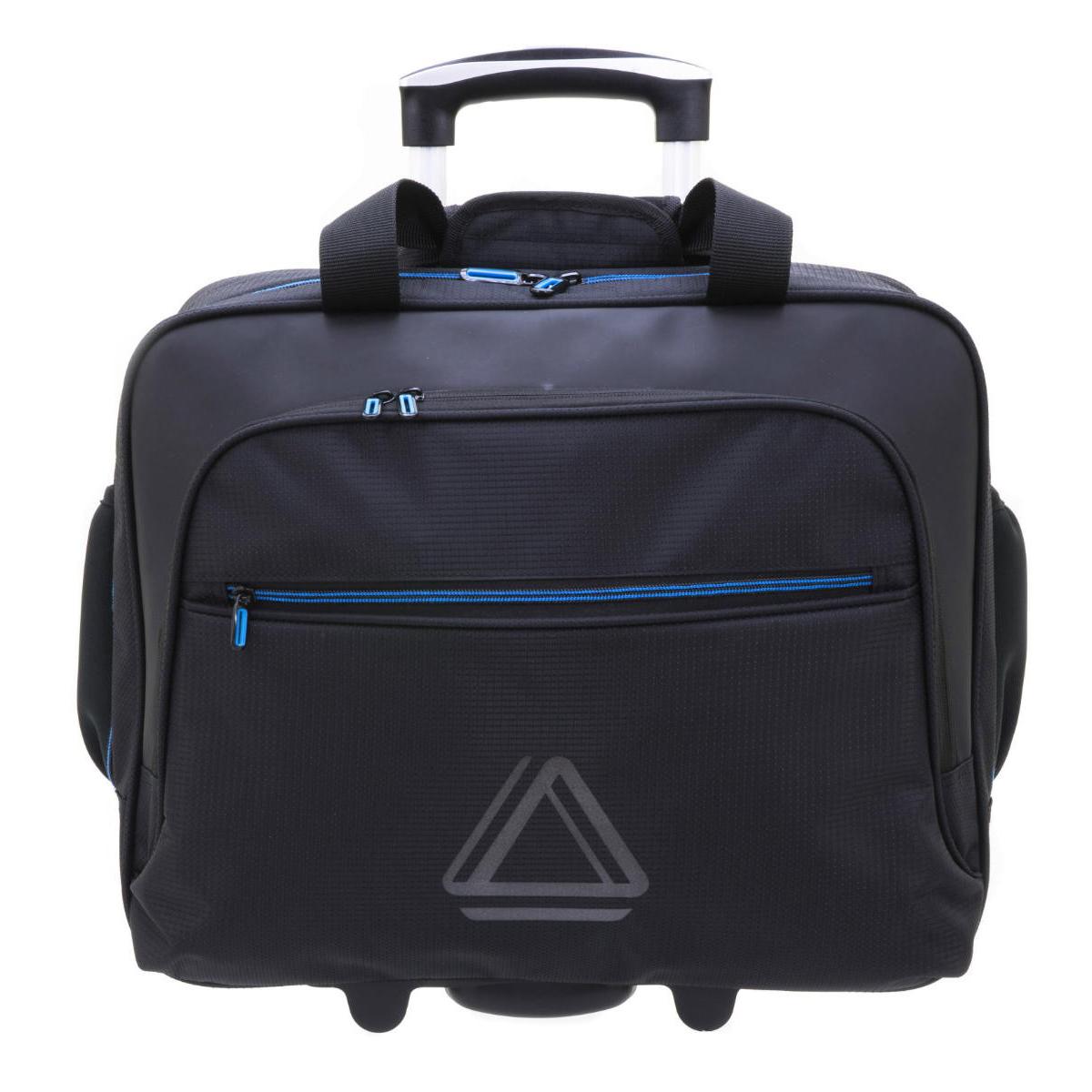 Sac business trolley \'Davidt\'s\' noir bleu (spécial ordinateur 15\') - 42x365x16 cm - [Q0641]