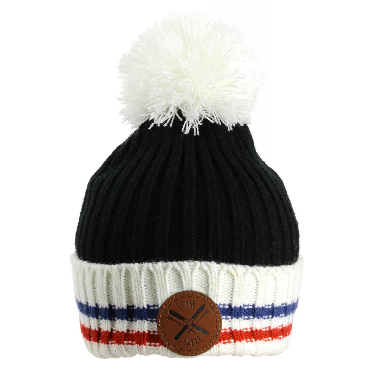 Bonnet tricot \'France Cocorico\' noir bleu blanc rouge - [Q3604]