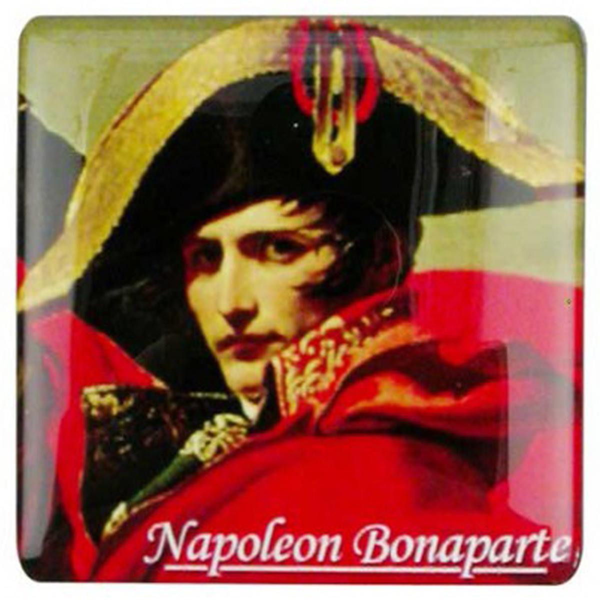 Magnet résine rétro \'Napoléon\' vintage - 6x6 cm - [Q6493]