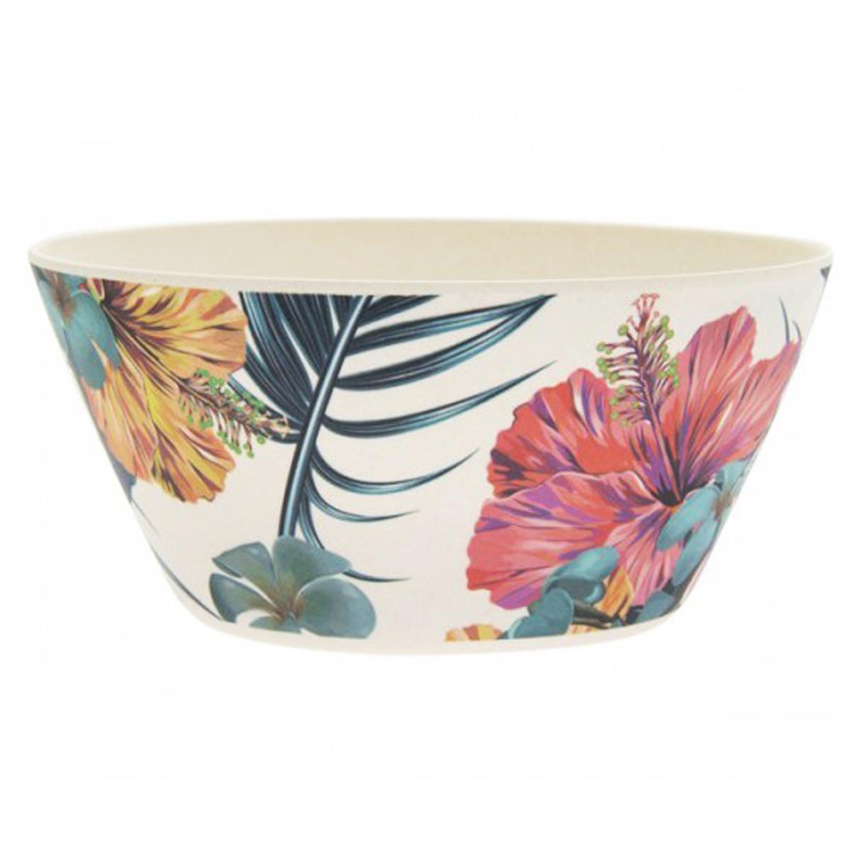 Bol bambou \'Tropical\' multicolore - 15x7 cm (700 ml) - [Q7395]