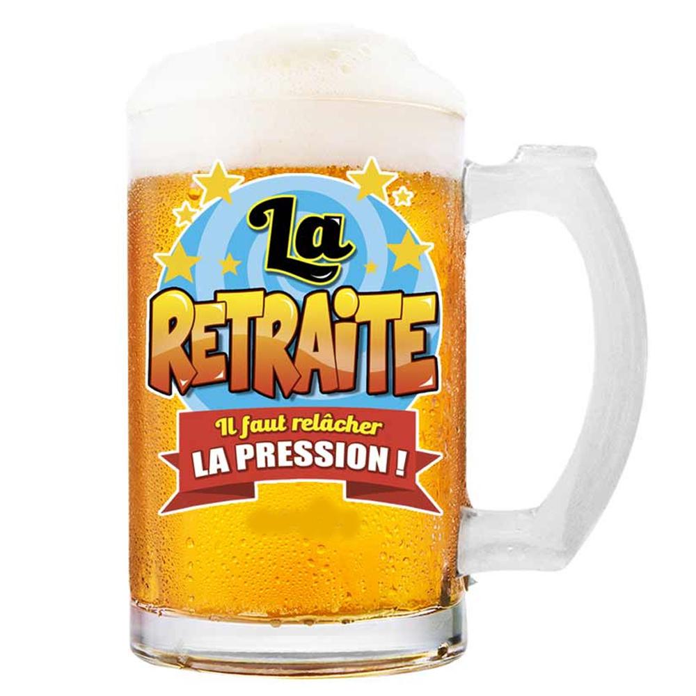 Chope à bière \'La Retraite\' (Il faut relâcher la Pression !)  - 145x75 cm - [Q8388]
