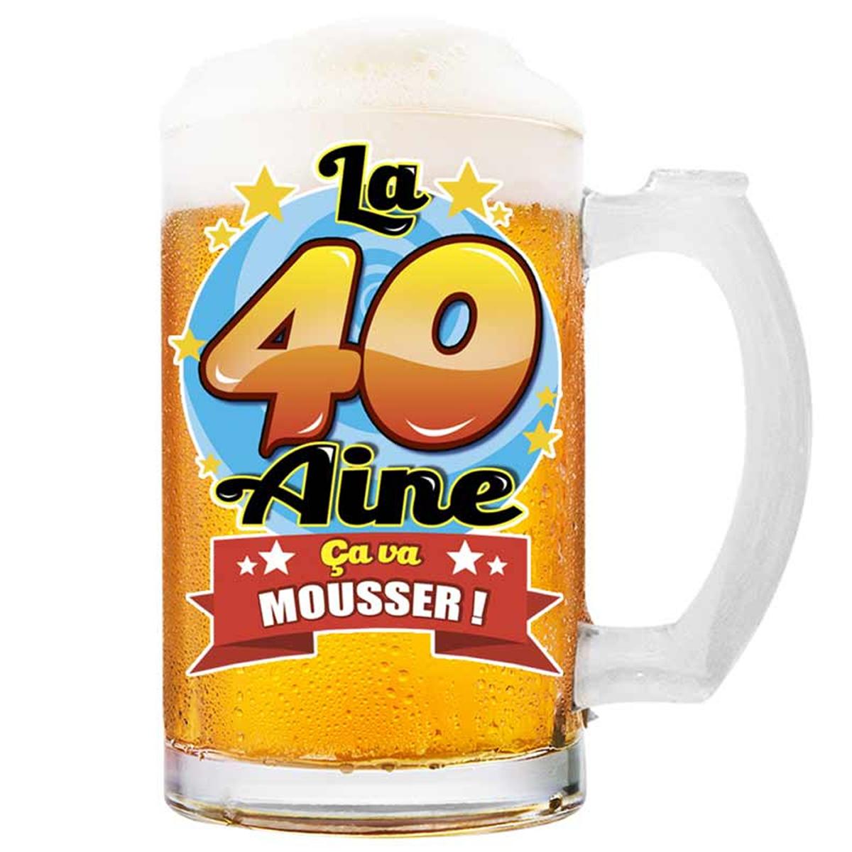 Chope à bière \'40 aine\' (ça va Mousser !)  - 145x75 cm - [Q8390]