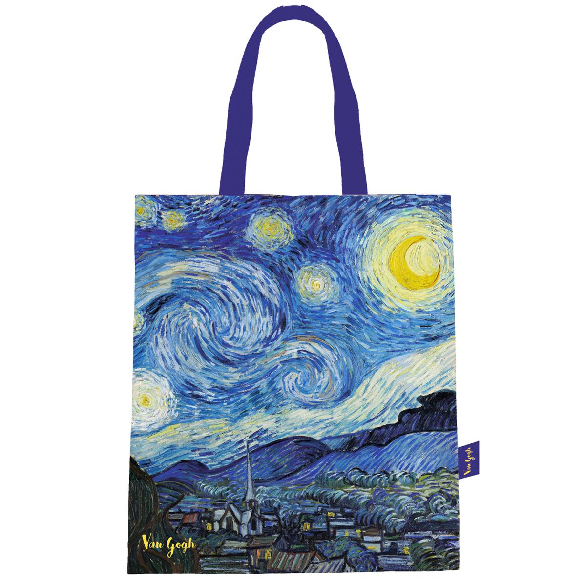 Sac coton / tote bag \'Vincent Van Gogh\' (La Nuit Etoilée) - 44x38 cm - [Q9249]