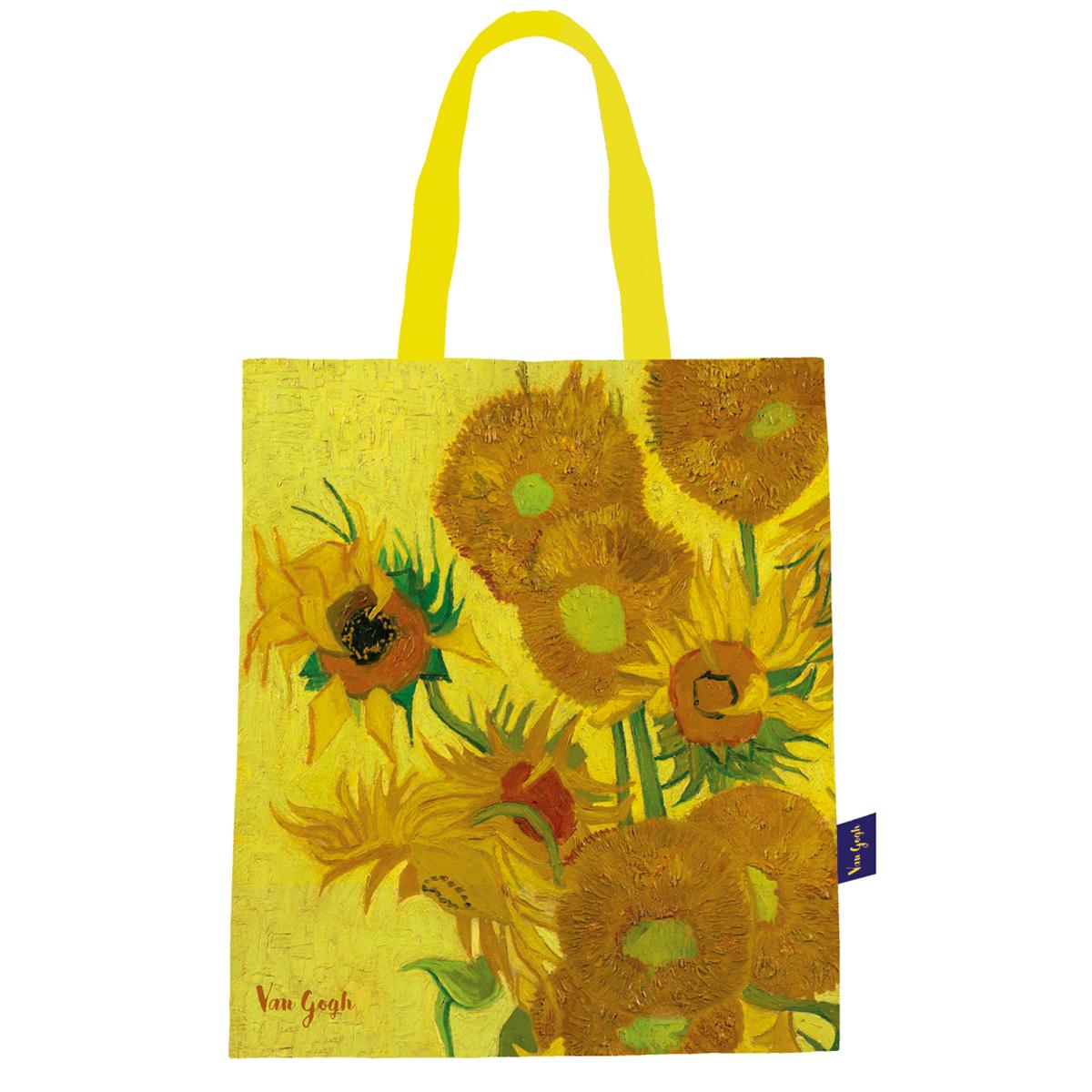 Sac coton / tote bag \'Vincent Van Gogh\' (Les Tournesols) - 44x38 cm - [Q9251]