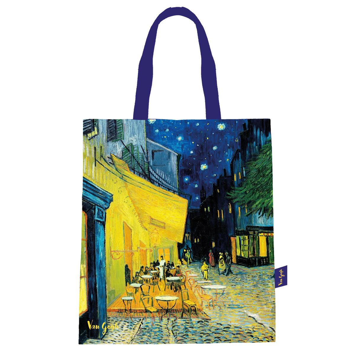 Sac coton / tote bag \'Vincent Van Gogh\' (Terrasse du café le soir) - 44x38 cm - [Q9252]