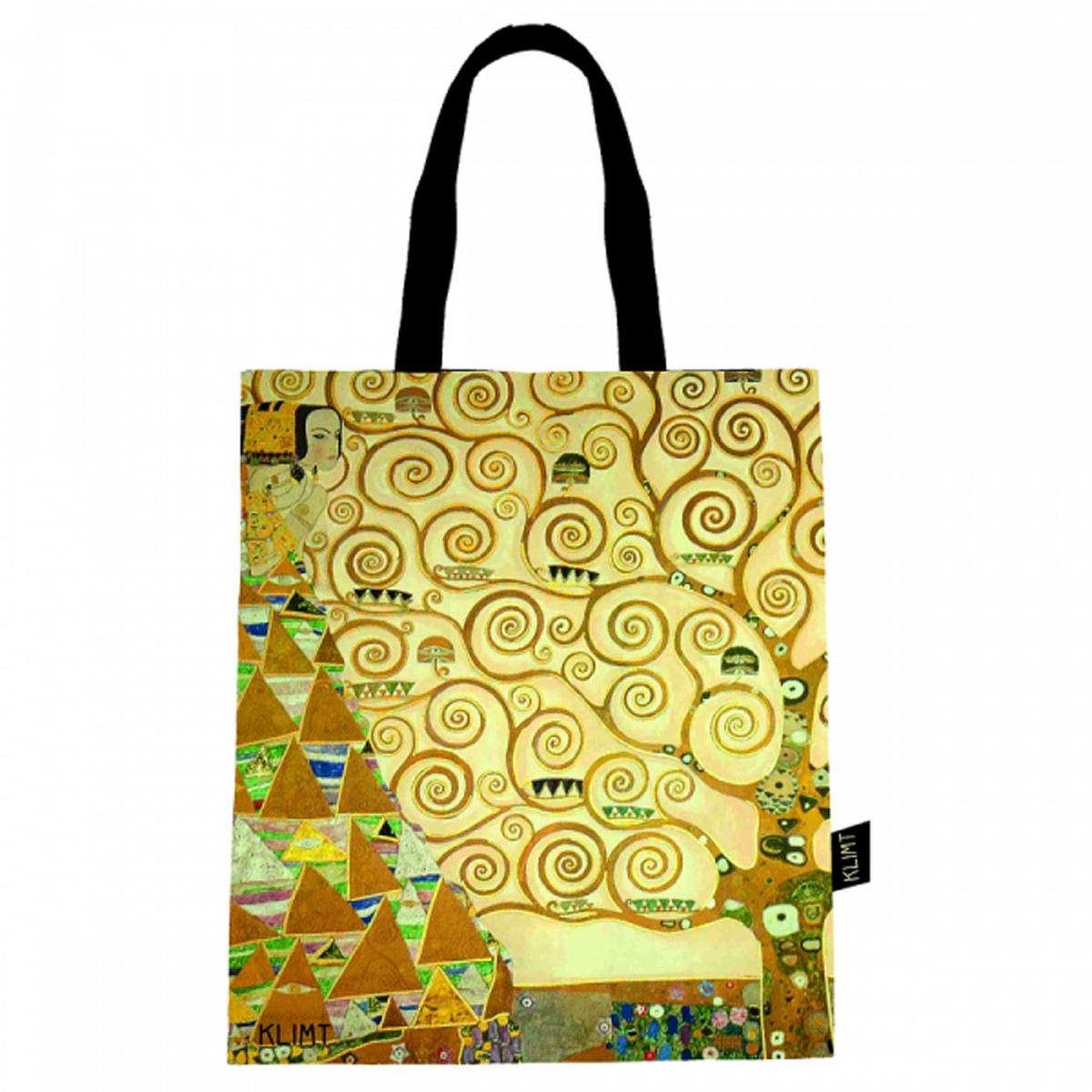 Sac coton / tote bag \'Gustav Klimt\' (Arbre de vie) - 44x38 cm - [R2981]