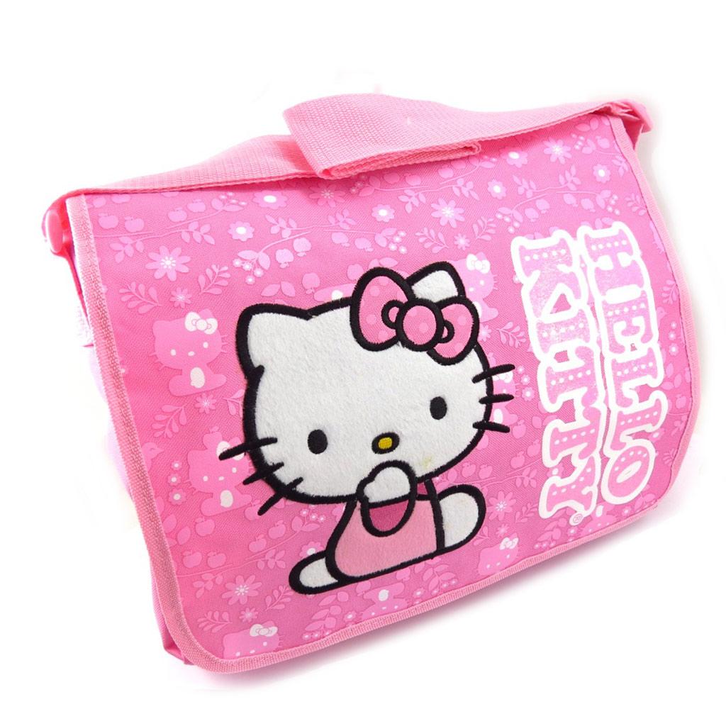 Sac créateur  \'Hello Kitty\' rose - 36x28x7 cm - [K3764]
