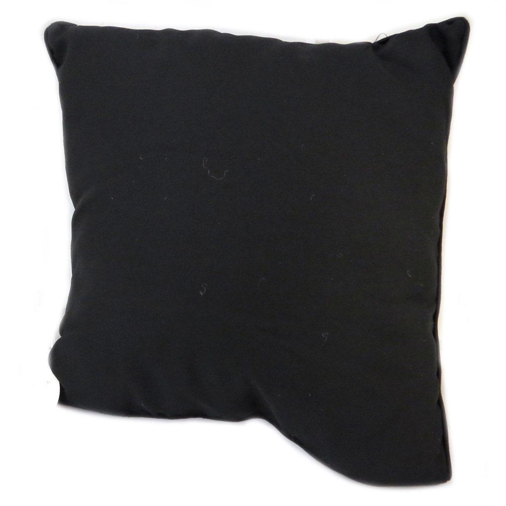 Coussin créateur 'Messages' blanc noir doré (L'Amour est simplement Folie) - 30 cm - [P2966]