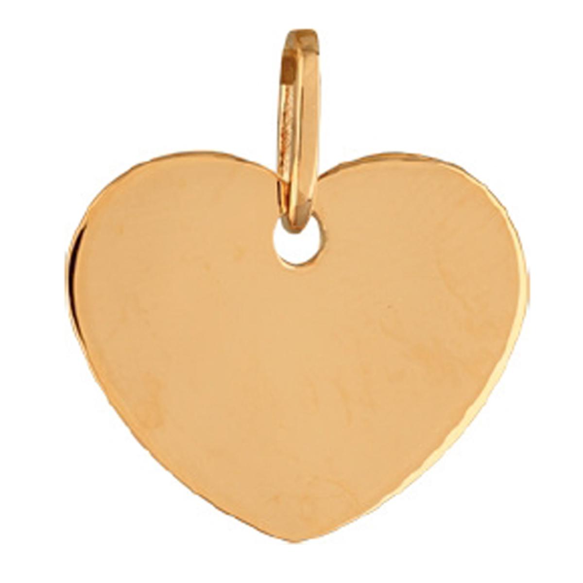Pendentif Plaqué Or \'Love\' doré - 23x19 mm (gravable) - [R3929]