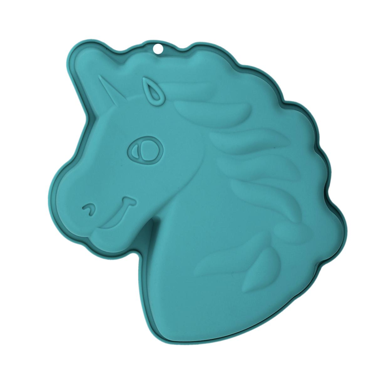 Moule silicone \'Licorne My Unicorn\' turquoise - 265x23 cm - [R0013]