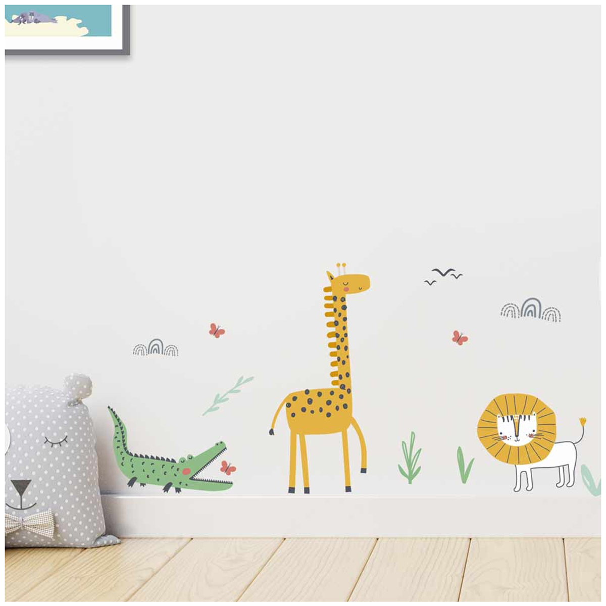 Planche de stickers \'Animaux de la Jungle\' multicolore - 50x70 cm - [A1560]