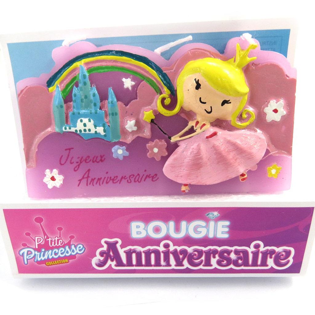 Bougie \'Joyeux Anniversaire\' totem princesse (85x8 cm) - [M5216]