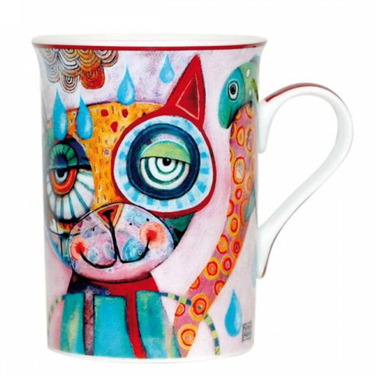 Mug porcelaine \'Allen Designs\' chat - 10x75 cm - [P5671]