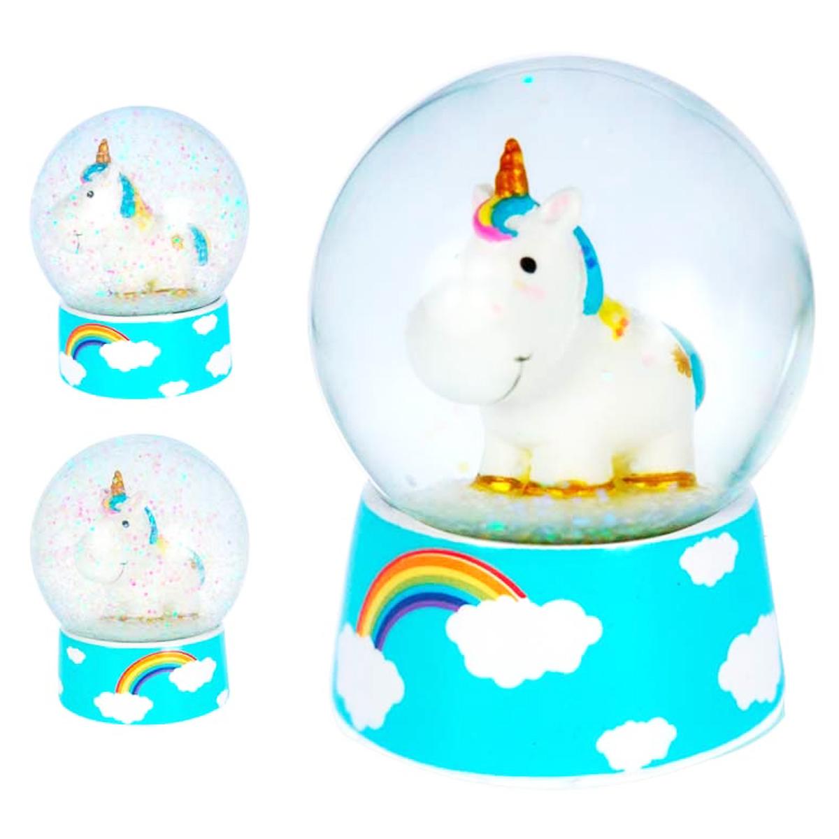 Boule de neige \'Licorne My Unicorn\' blanc arc en ciel - 85x65 cm - [Q0842]