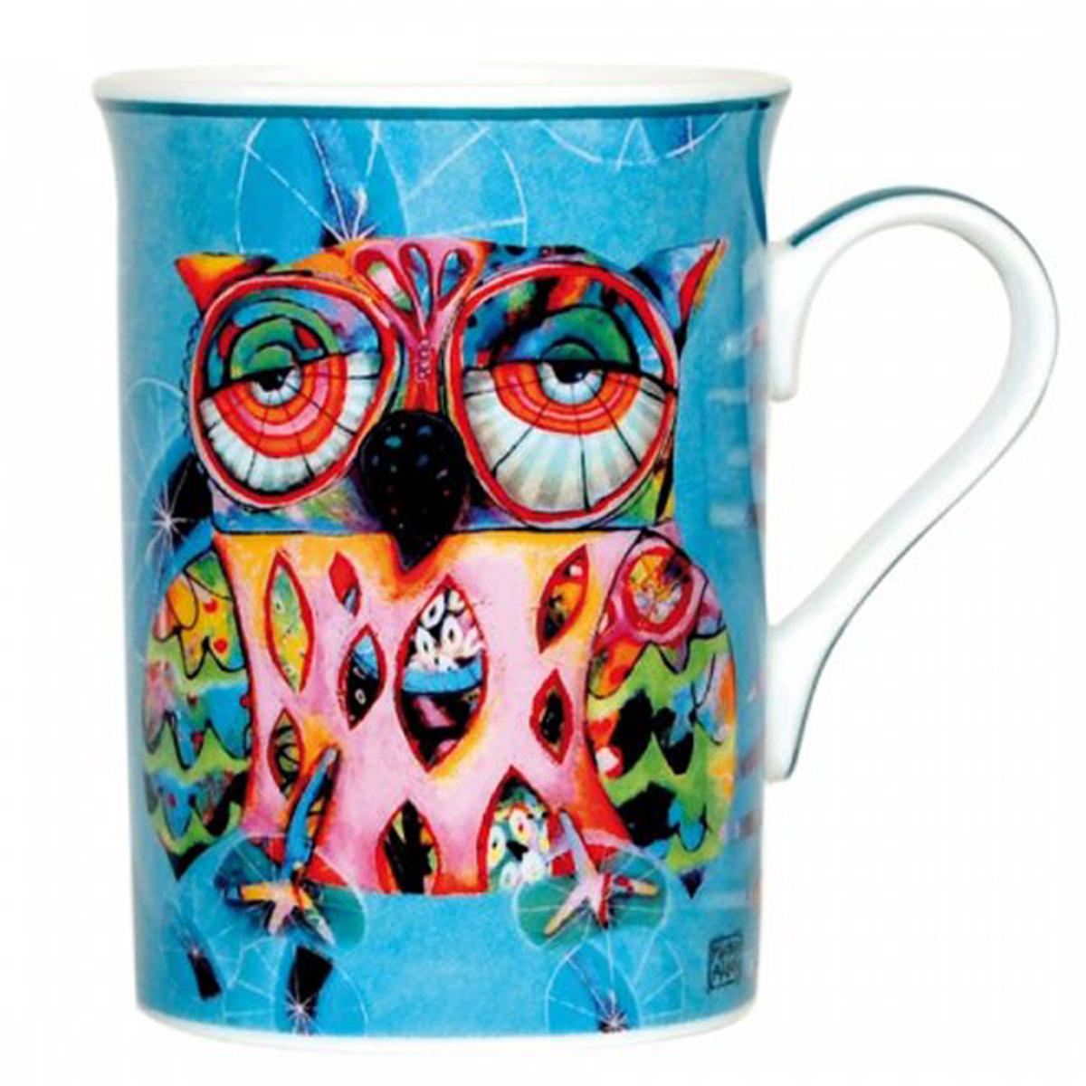 Mug porcelaine \'Allen Designs\' chouette - 10x75 cm - [R1952]