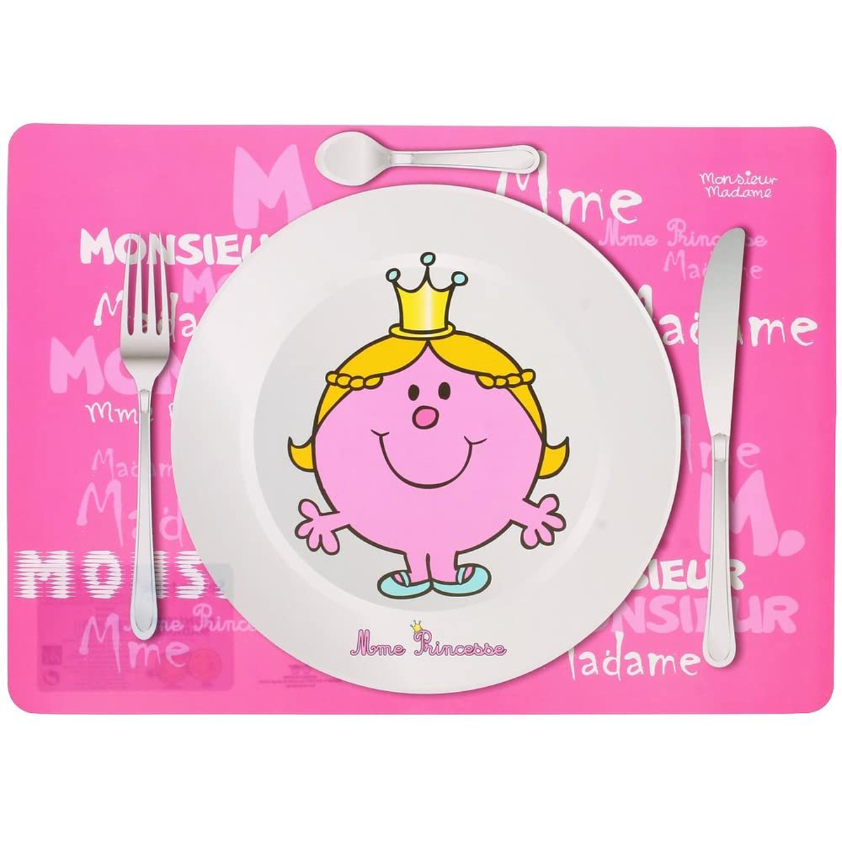 Set de table \'Monsieur Madame\' rose (Mme Princesse) - 40x30 cm - [A1539]