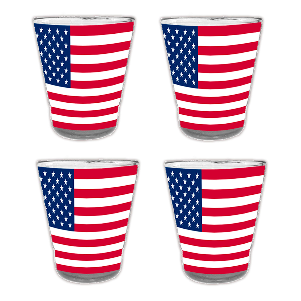 4 verre shooters \'USA\' -  6 cm - [A1605]