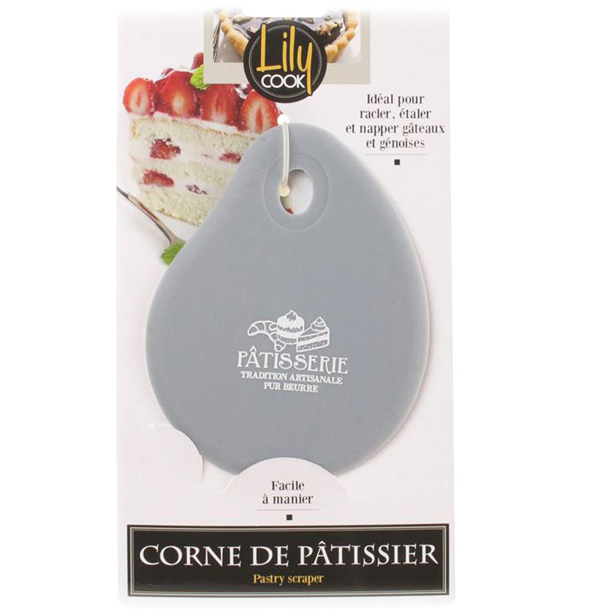 Corne de pâtissier silicone \'Patisserie\' gris - 13x10 cm - [A1607]