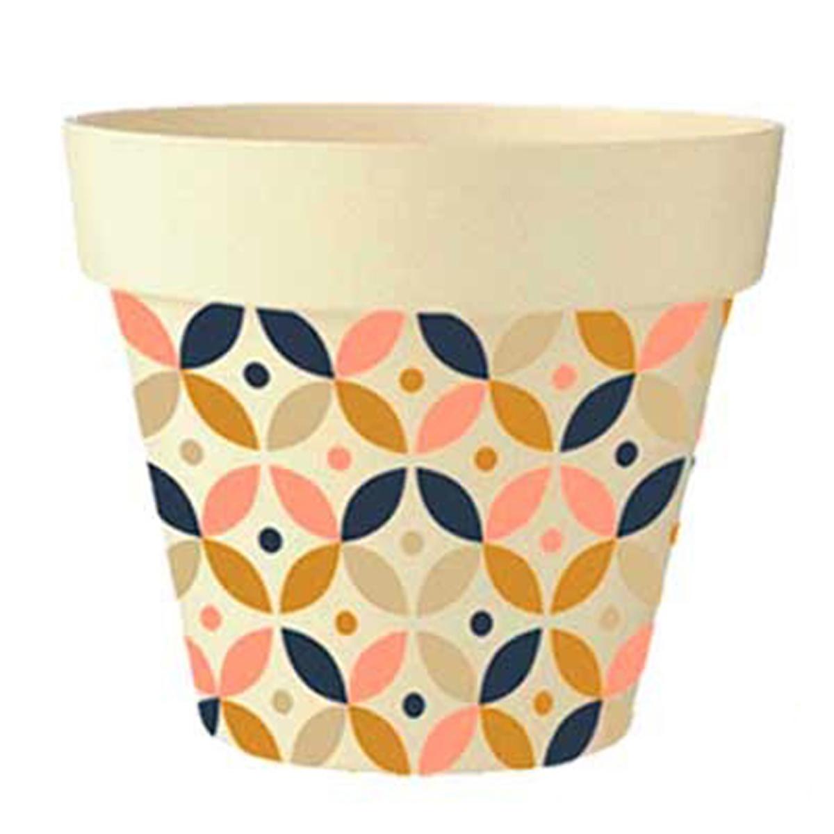 Cache-pot bambou \'Boho\' rose marron marine beige -  135x15 cm - [Q6414]