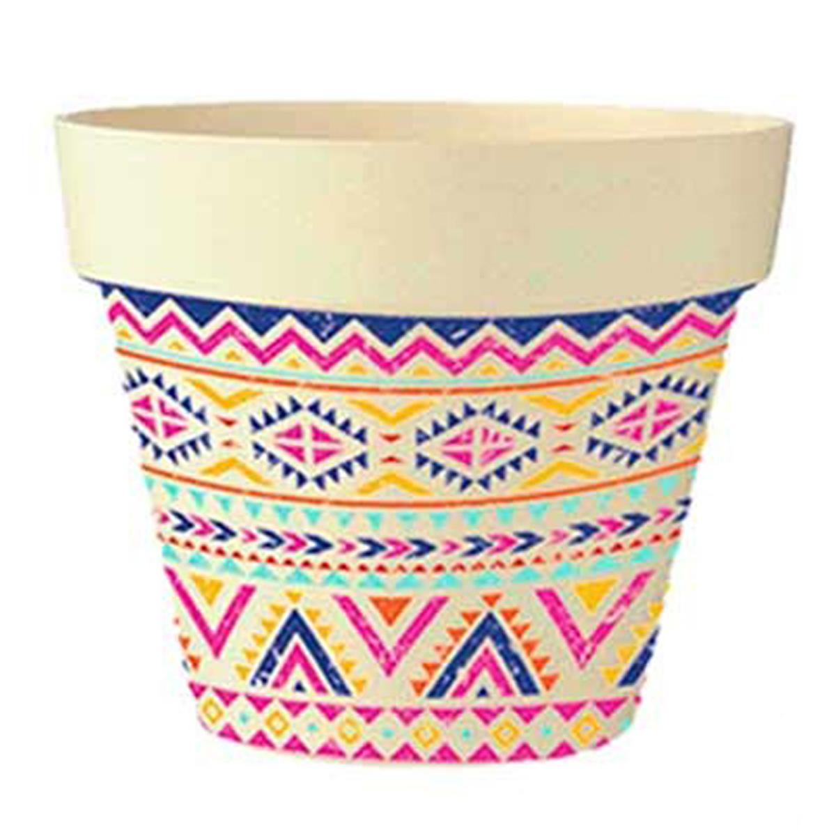 Cache-pot bambou \'Boho\' rose multicolore beige -  135x15 cm - [Q6428]