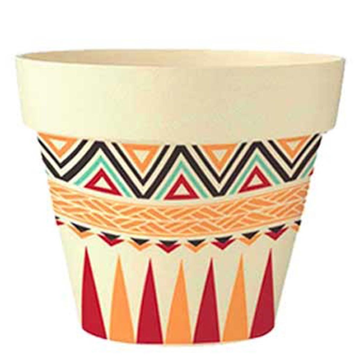 Cache-pot bambou \'Boho\' rouge orange beige -  135x15 cm - [Q6430]