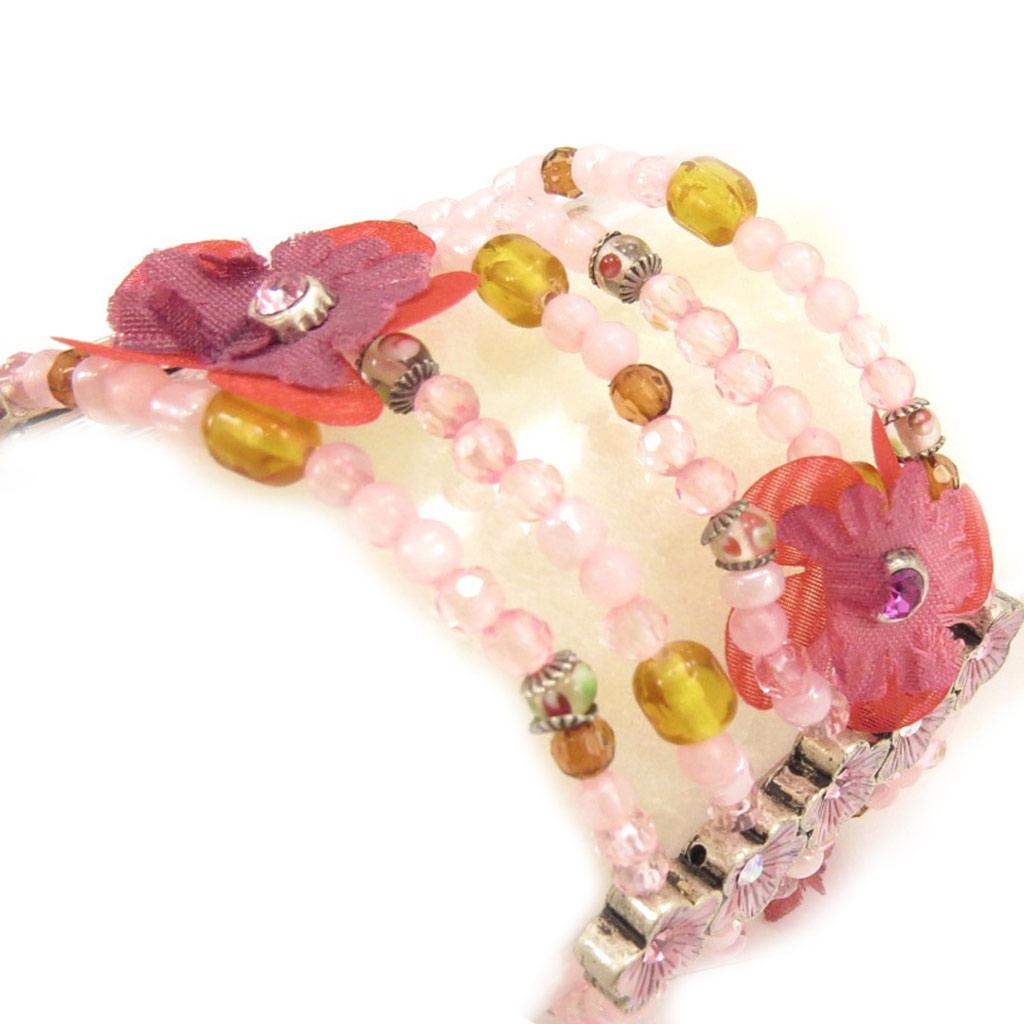 Bracelet Créateur \'Aubepine\' Rose  - [B4131]