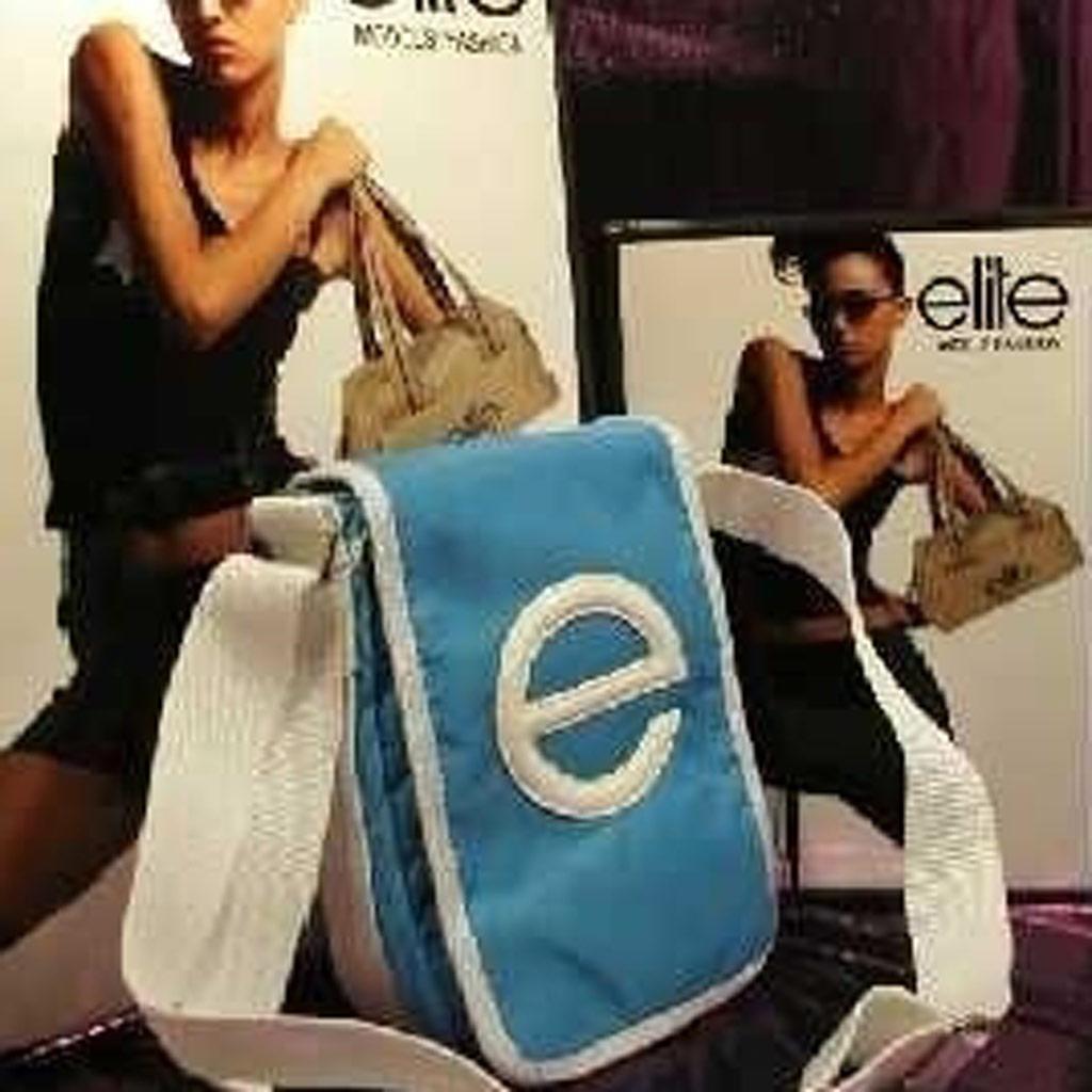 Mini Besace \'Elite Shanghai\' Bleu  - [B4950]