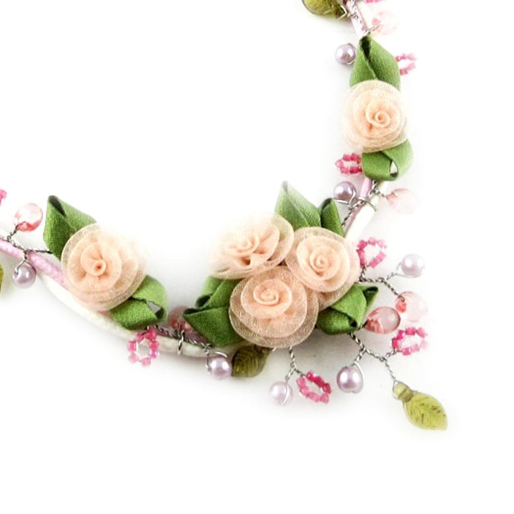 Collier Créateur \'Roses d\'Amour\' Rose  - [D2082]