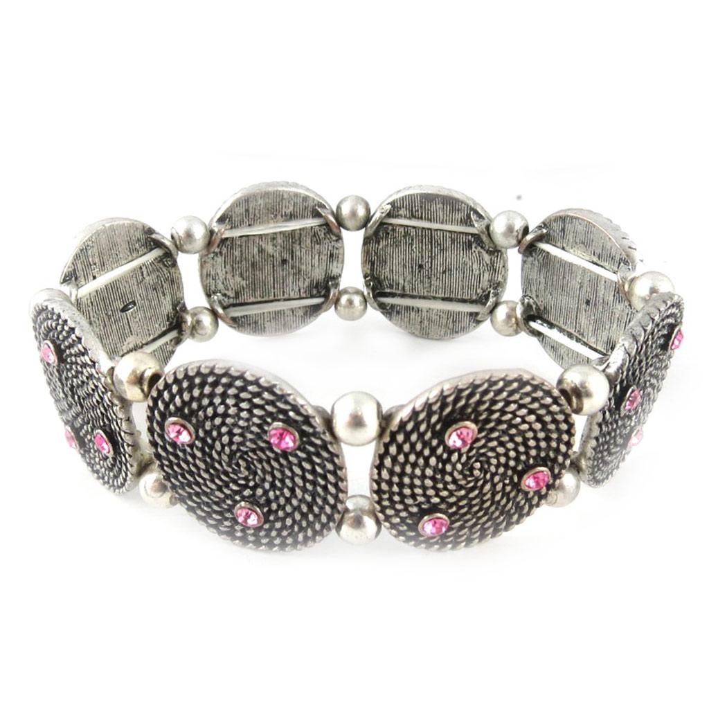 Bracelet Créateur \'Neolys\' Rose  - [E0365]