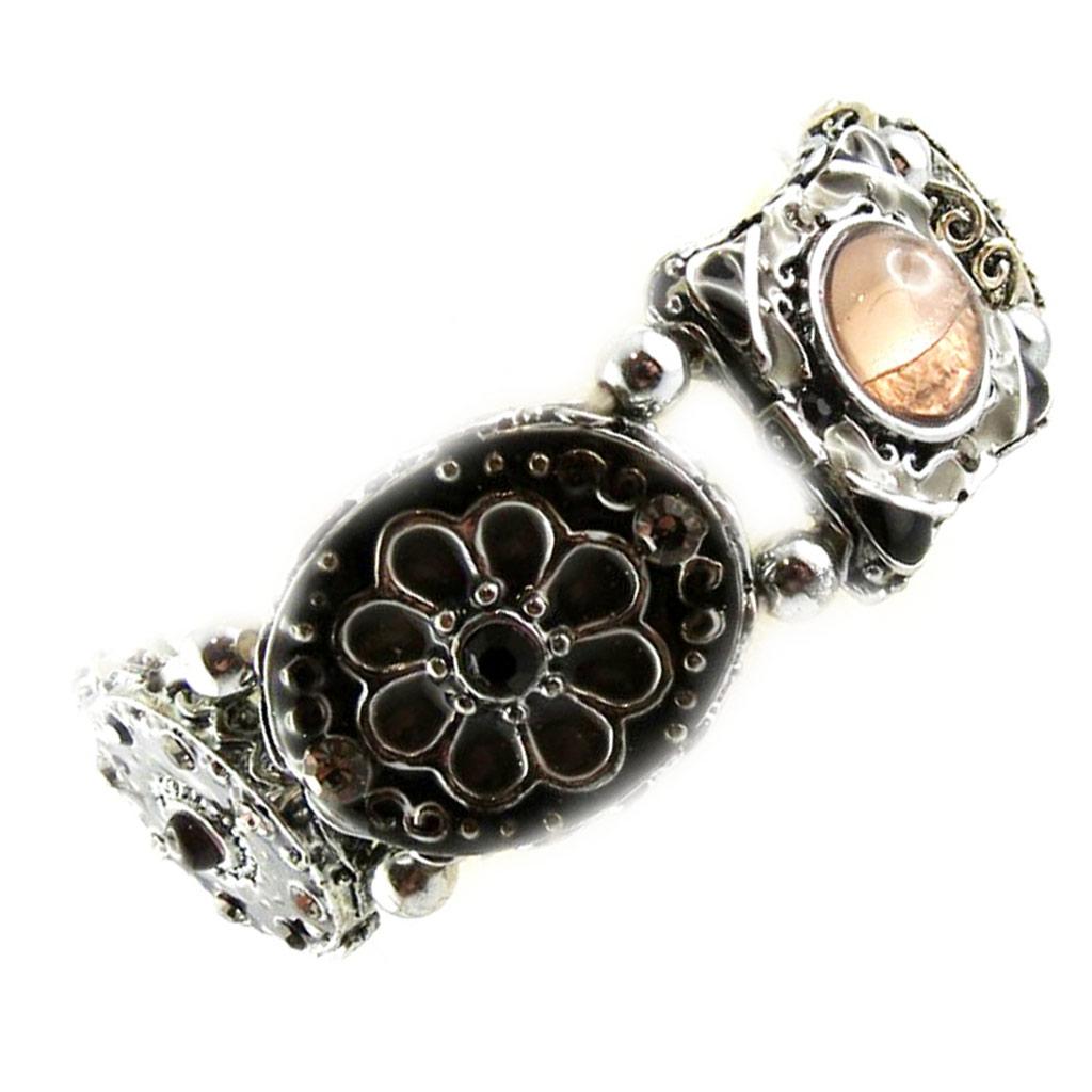 Bracelet Créateur \'Babouchka\' Gris Noir - [F4276]