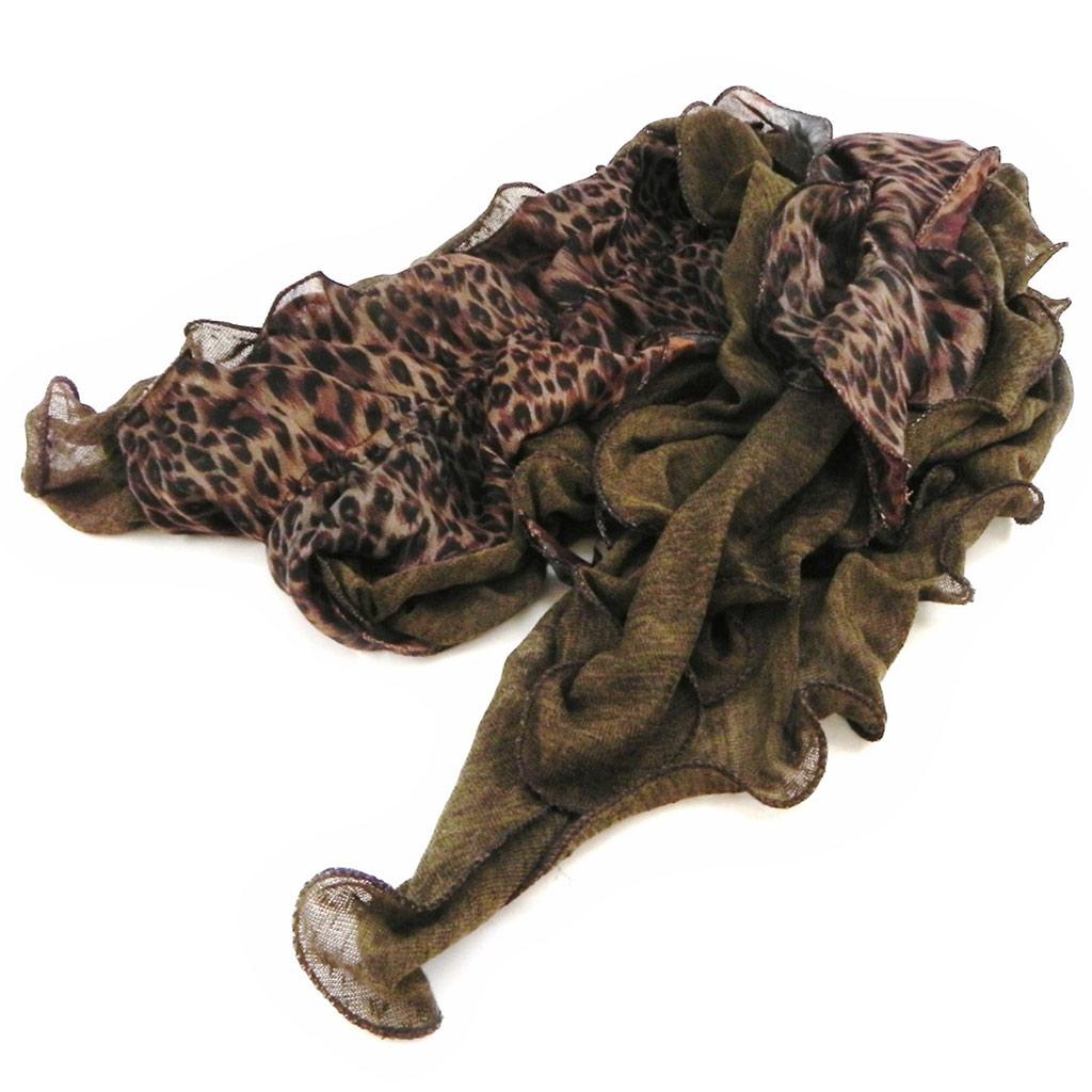 Echarpe créateur \'Safari Queen\' marron - [I1874]