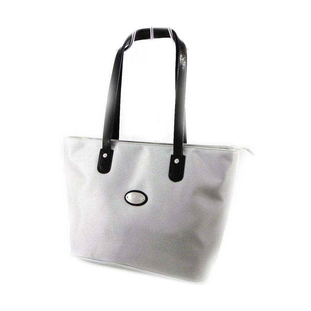 Sac shopper \'Hexagona\' gris clair - [I7630]