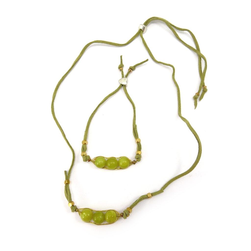 Parure Créateur \'Mineralia\' jade vert - [K4706]