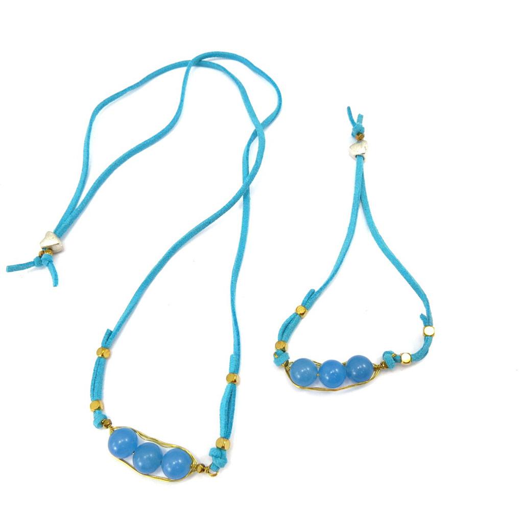 Parure Créateur \'Mineralia\' turquoise - [K4707]