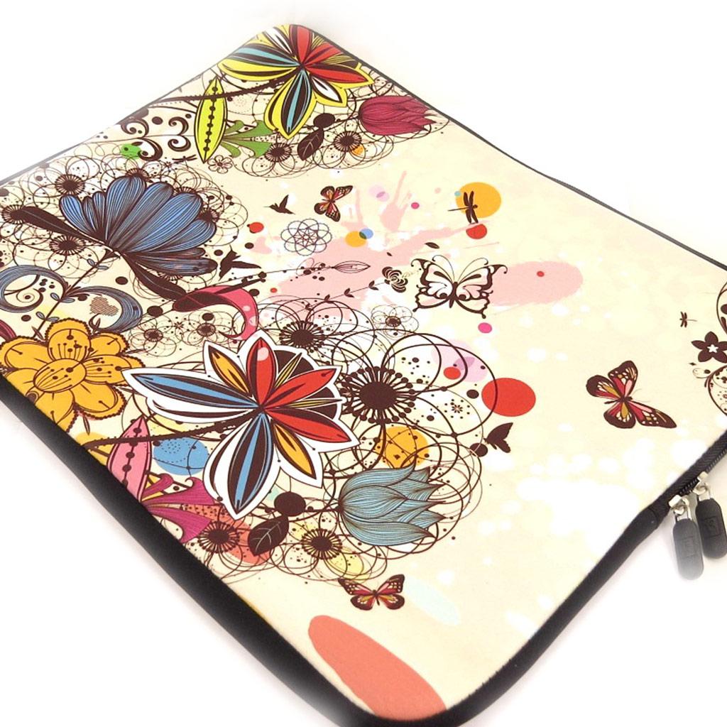 Housse ordinateur portable \'Floralies\' néoprène (15\') - [K8207]