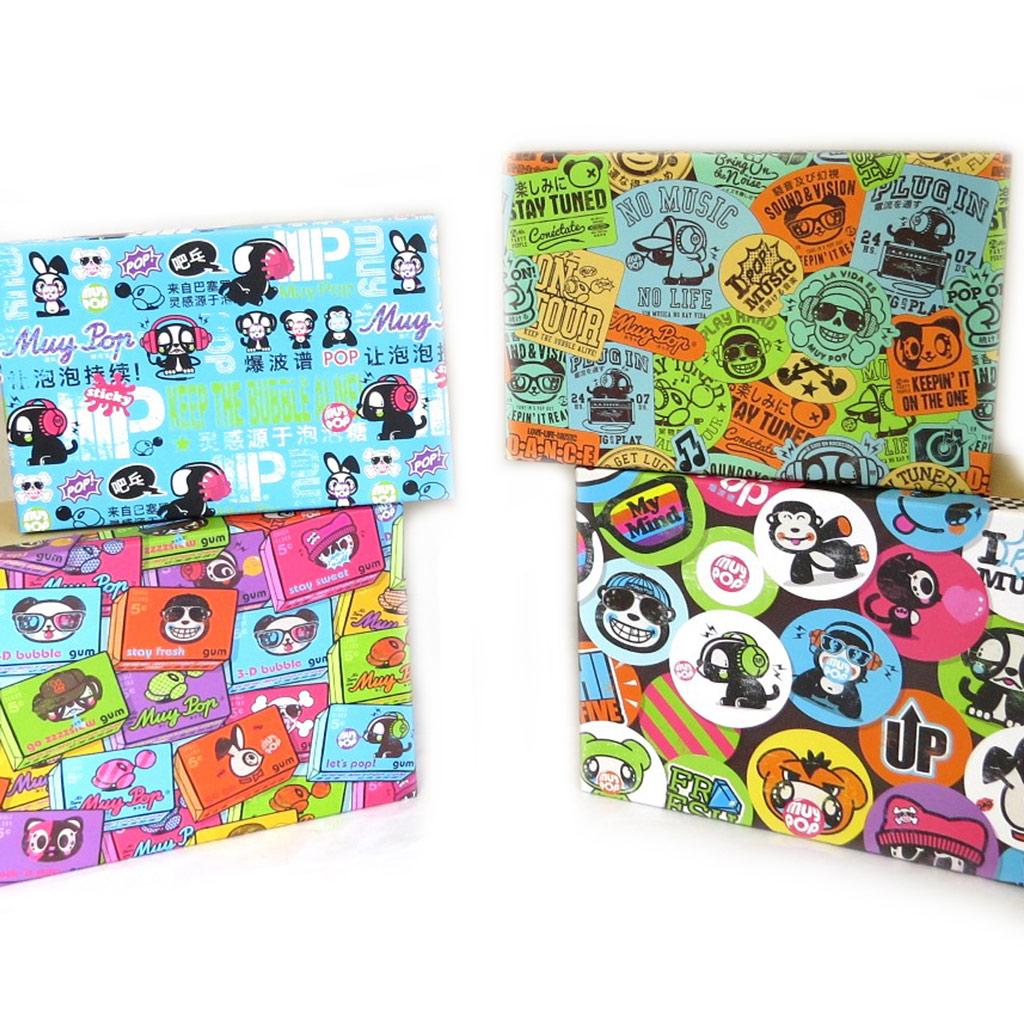 Set de 4 boîtes de rangement \'Muy Pop\' multicolore - [L8832]