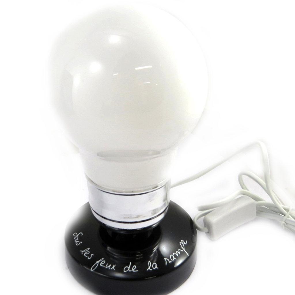 Lampe Déco \'Ampoule\' noir blanc (sous les feux de la rampe) - [L8992]