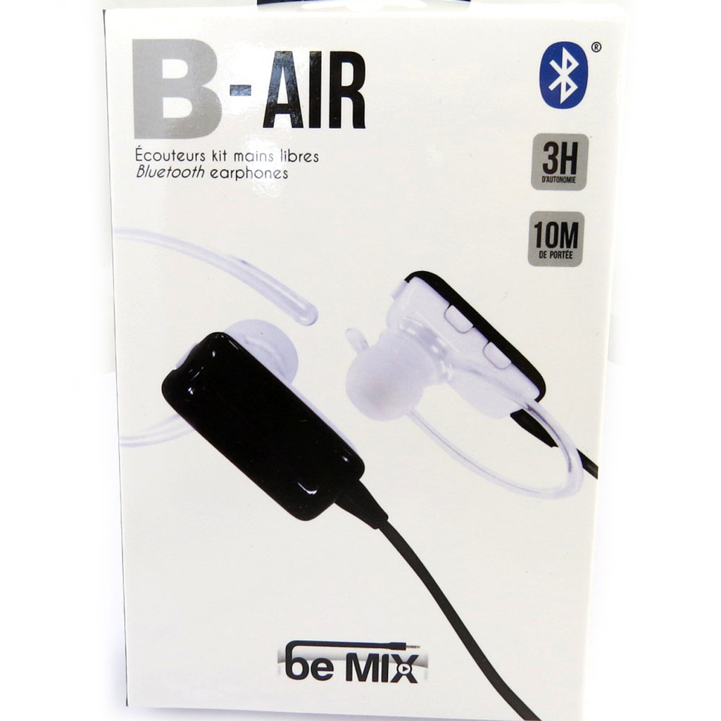 Ecouteurs bluetooth \'B-Air\' blanc (be mix) - [L9030]