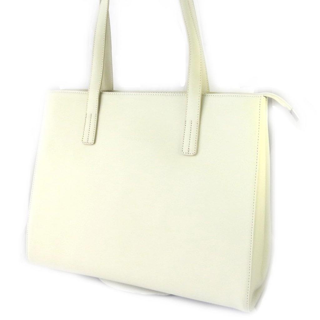 Sac cuir \'Hexagona\' beige (37x29x12 cm) - [M2774]