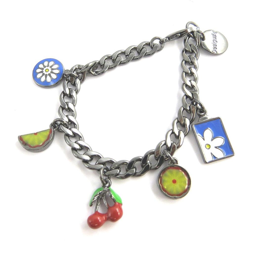 Bracelet créateur \'Desigual\' gris multicolore - [M8453]