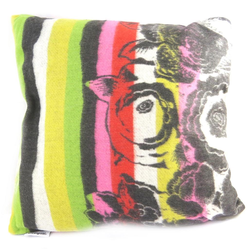 Coussin créateur \'Desigual\' multicolore (40x40 cm) - [M8554]