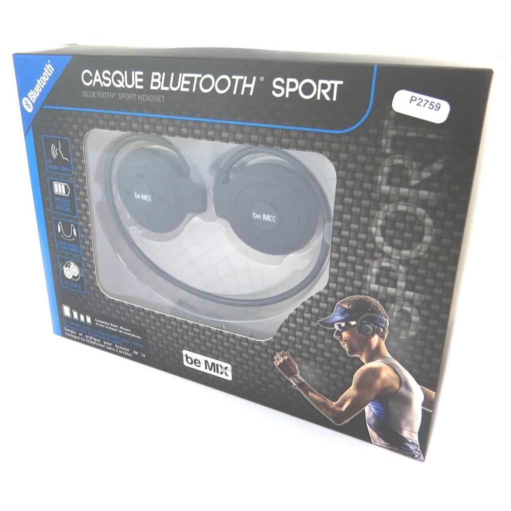 Ecouteurs sport bluetooth \'Coloriage\' noir (be mix) - [P2759]