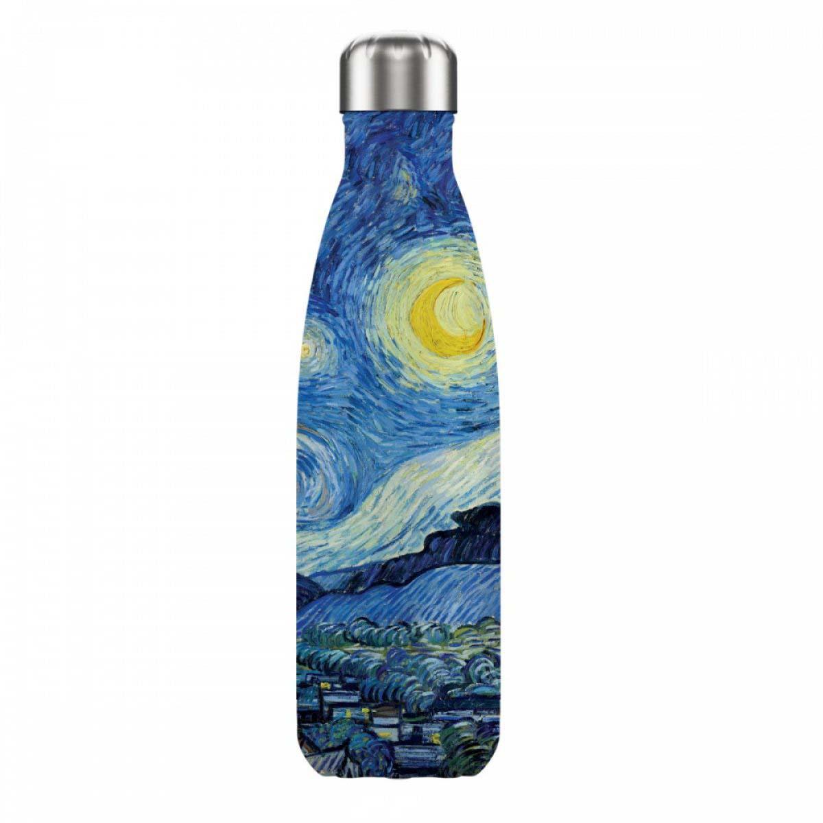 Bouteille isotherme design \'Vincent Van Gogh\' (nuit étoilée) - 25x5 cm (500 m) - [A0866]