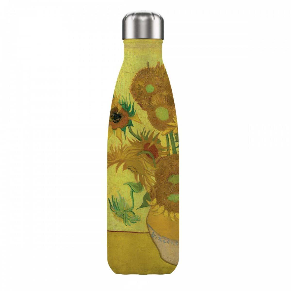 Bouteille isotherme design \'Vincent Van Gogh\' (tournesols) - 25x5 cm (500 ml) - [A0867]