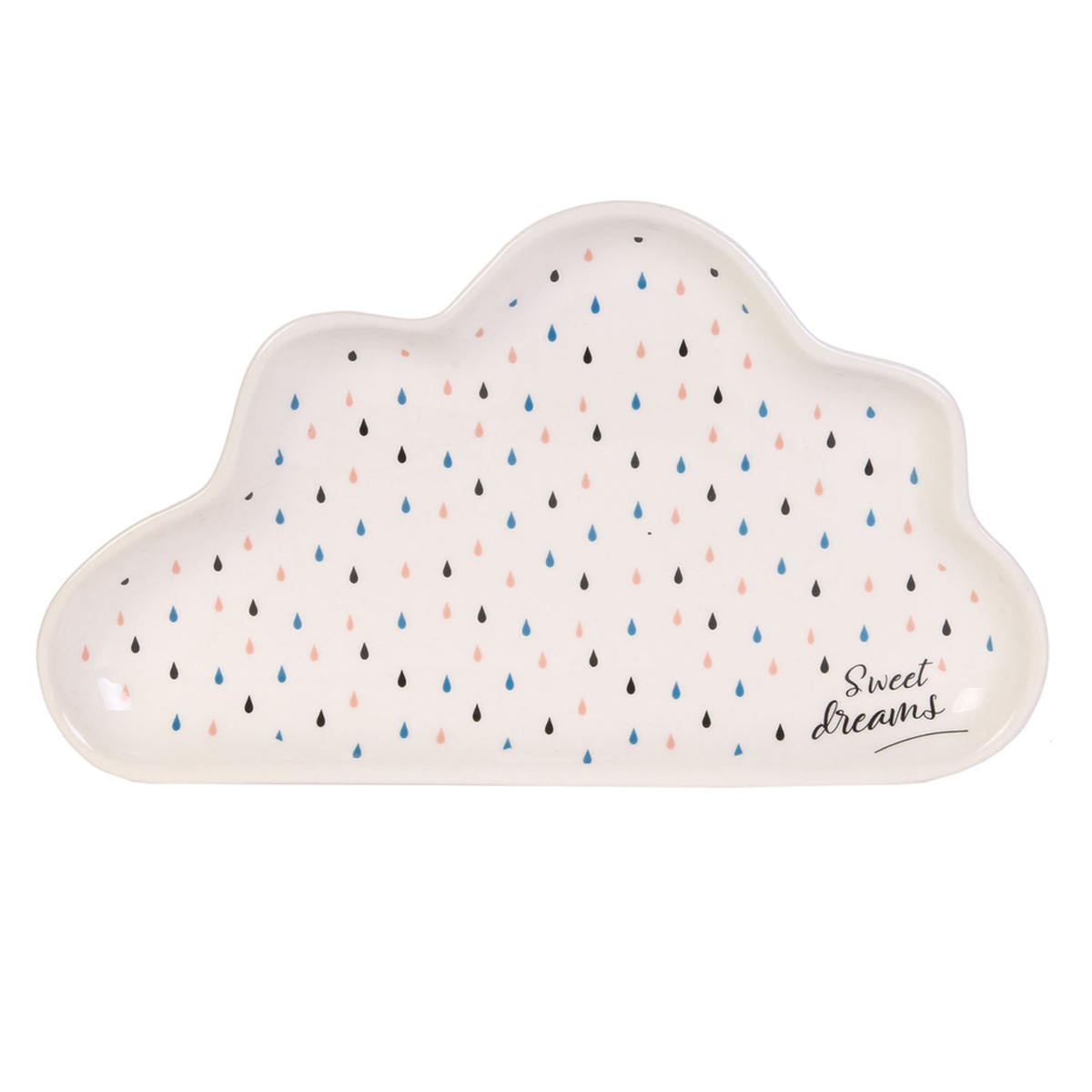 Coupelle vide-poches céramique \'Nuage\' multicolore (Sweet dreams) - 24x14 cm - [A1711]