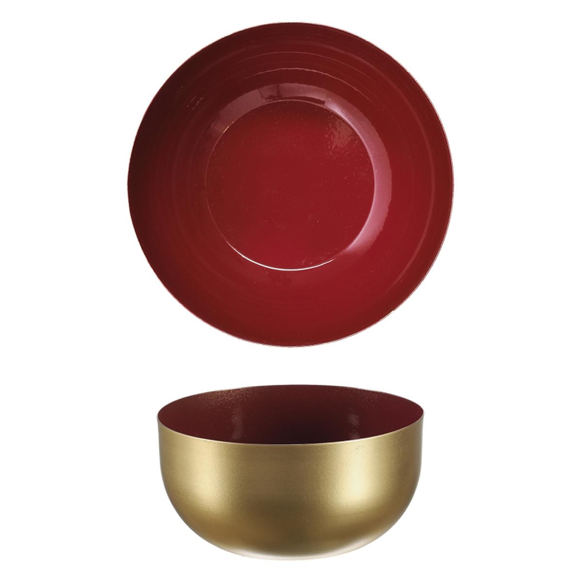 Coupelle métal \'Boho\' rouge doré - 12x6 cm - [A1714]